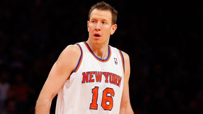 NEW YORK, NY - FEBRUARY 10:  (NEW YORK DAILIES OUT)    Steve Novak #16 of the New York Knicks in action against the Los Angeles Clippers at Madison Square Garden on February 10, 2013  in New York City.
