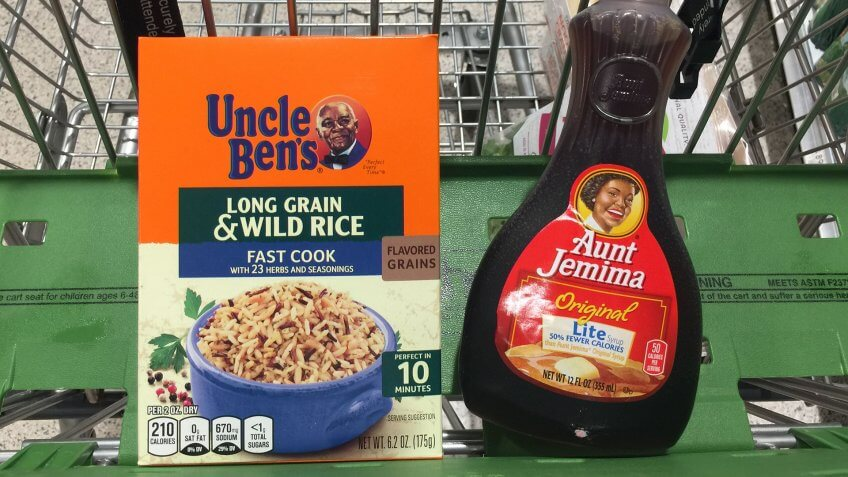 """Mandatory Credit: Photo by Larry Marano/Shutterstock (10684238c)The 130-year-old brand features a Black woman named Aunt Jemima, who was originally dressed as a minstrel character, The brand of syrup and pancake mix will get a new name and image, Quaker Oats announced Wednesday, saying the company recognizes that """"Aunt Jemima's origins are based on a racial stereotype."""