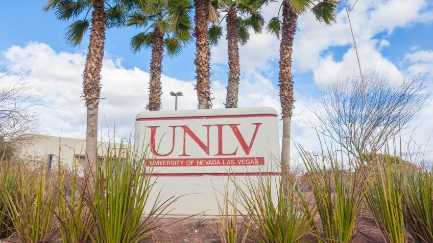 Las Vegas, USA - January 31, 2015: University of Nevada Las Vegas sign.