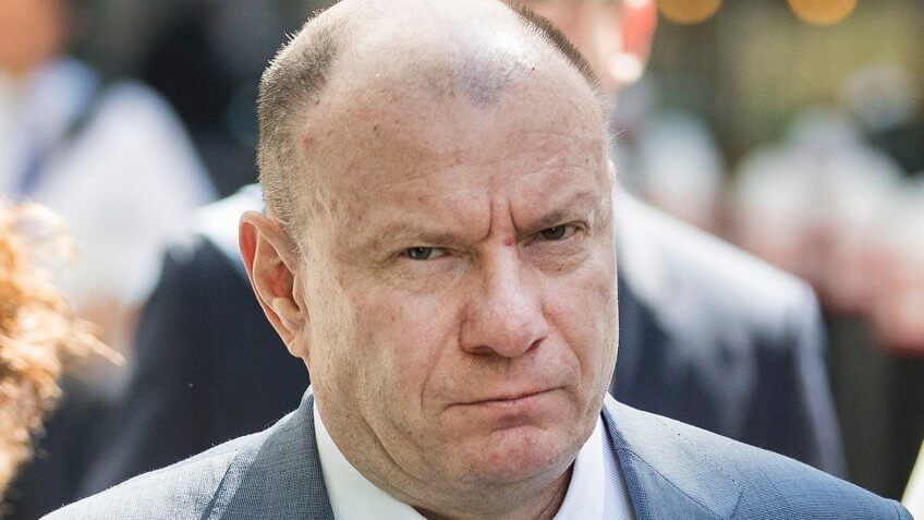 Mandatory Credit: Photo by Peter Macdiarmid/Shutterstock (9671990c)Vladimir Potanin (C) arrives at the Rolls Building of the High Court.