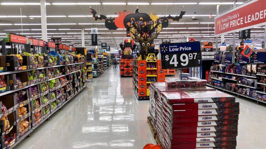 Walmart seasonal aisle section