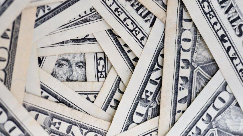 concept image of america's financial debt.