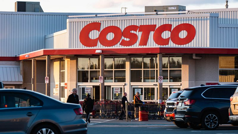 April 17, 2020 - Halifax, Canada - Costco Wholesale warehouse store located in the Bayers Lake retail park.