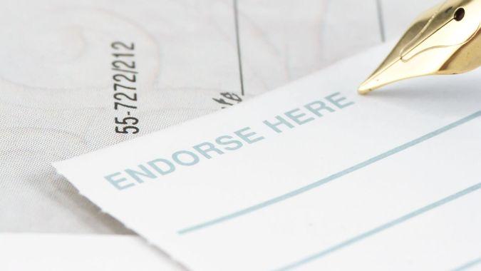 endorse a check