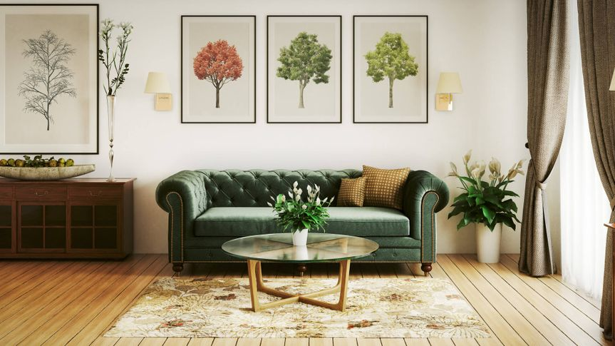 modern nice interior living room