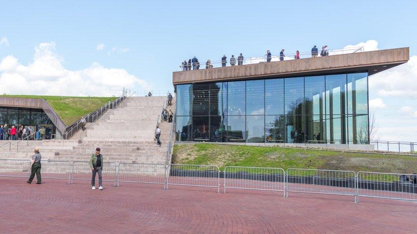 new Statue of Liberty Museum on Liberty Island
