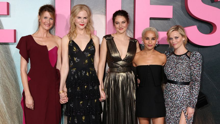 """LOS ANGELES - FEB 7: Laura Dern, Nicole Kidman, Shailene Woodley, Zoe Kravitz, Reese Witherspoon at the """"Big Little Lies"""" HBO Premiere at TCL Chinese Theater on February 7, 2017 in Los Angeles, CA."""