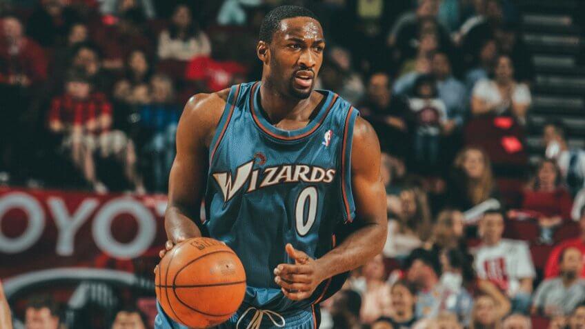 NBA Basketball - Washington Wizards Gilbert Arenas against Houston Rockets on Feb.
