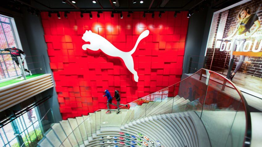 OSAKA, JAPAN - DECEMBER 8, 2017:Puma's premium store in Osaka is a new landmark on the retail horizon.