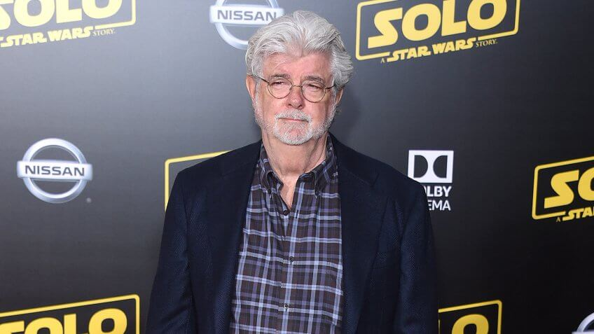 """LOS ANGELES - MAY 10: George Lucas arrives to the """"Solo: A Star Wars Story"""" World Premiere on May 10, 2018 in Hollywood, CA."""