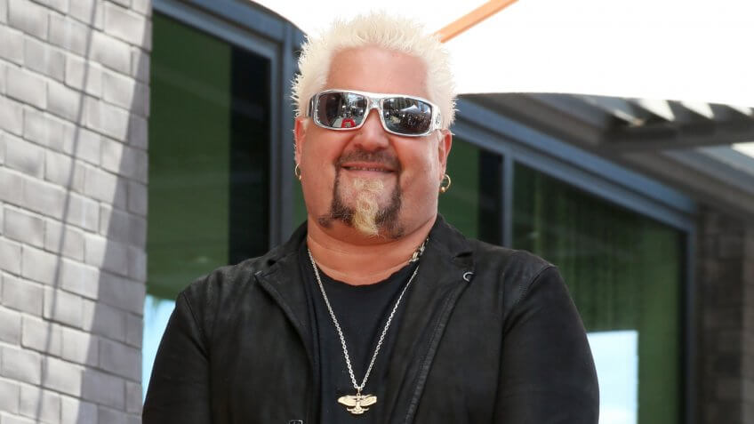 LOS ANGELES - MAY 22: Guy Fieri at the Guy Fieri Star Ceremony on the Hollywood Walk of Fame on May 22, 2019 in Los Angeles, CA.