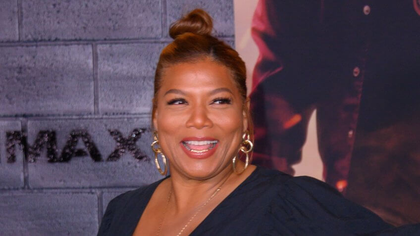 """HOLLYWOOD, CA / USA - JANUARY 14, 2020: Queen Latifah at the Premiere Of Columbia Pictures' """"Bad Boys For Life"""" held at TCL Chinese Theatre on January 14, 2020 in Hollywood, California."""
