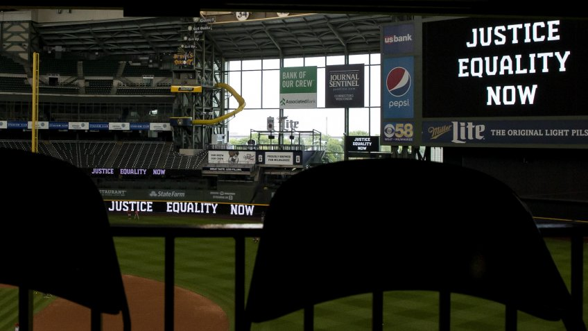 Mandatory Credit: Photo by John Fisher/CSM/Shutterstock (10757734a)''Justice, Equality, Now'' line the stadium.