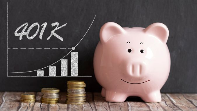 401k Savings Piggy Bank