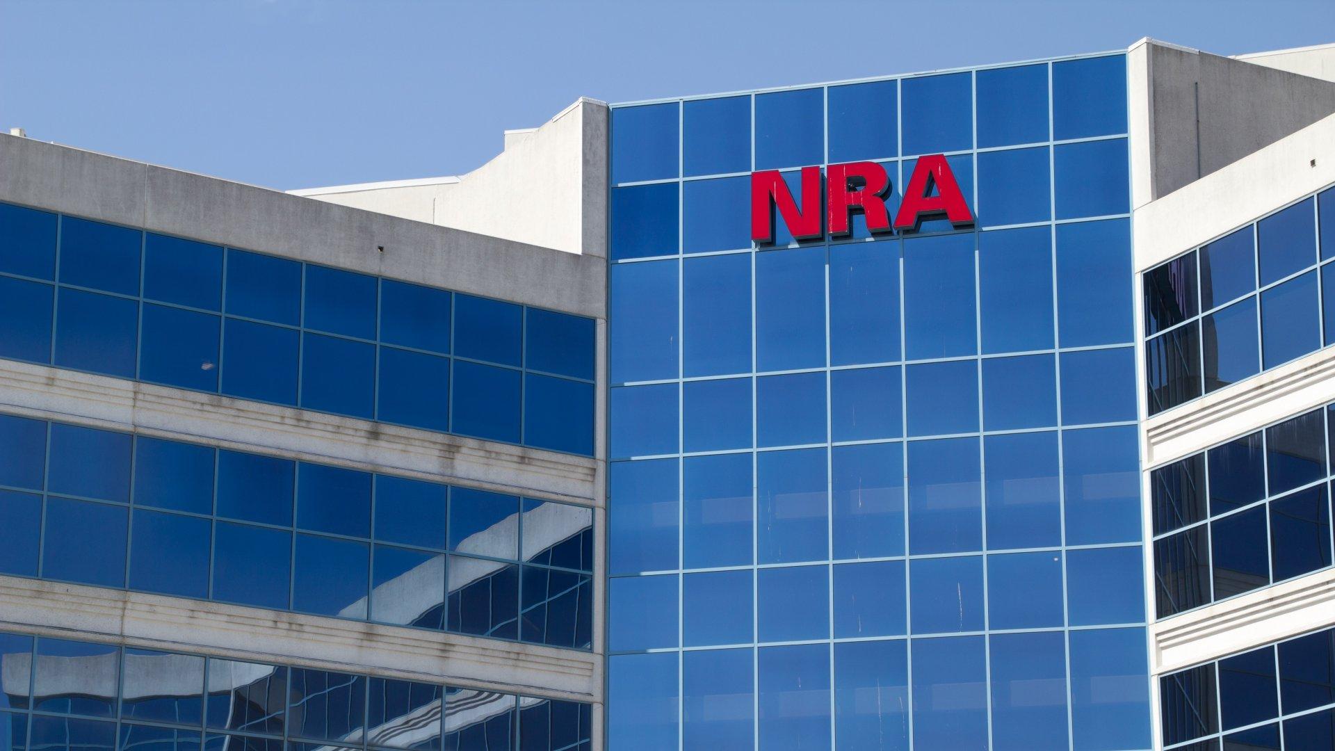 Fairfax, Virginia, USA - April 05,2013: The National Rifle Association headquarters building is located near Washington, DC.