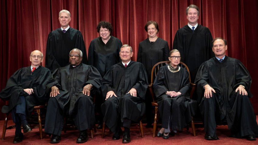 Mandatory Credit: Photo by J Scott Applewhite/AP/Shutterstock (10633344a)The justices of the U.