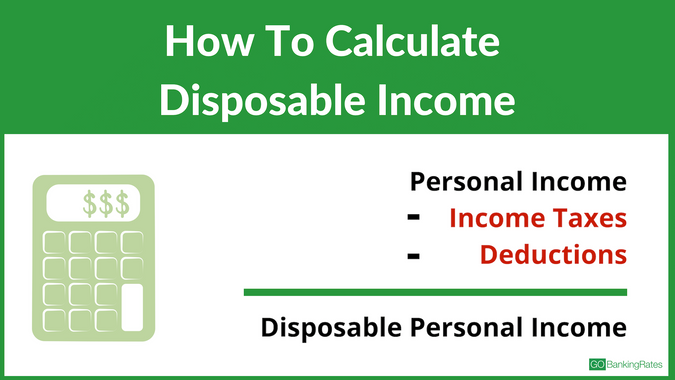 the formula for calculating disposable income is personal income minus income taxes and deductions