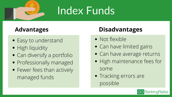 the advantages and disadvantages of index funds for investing