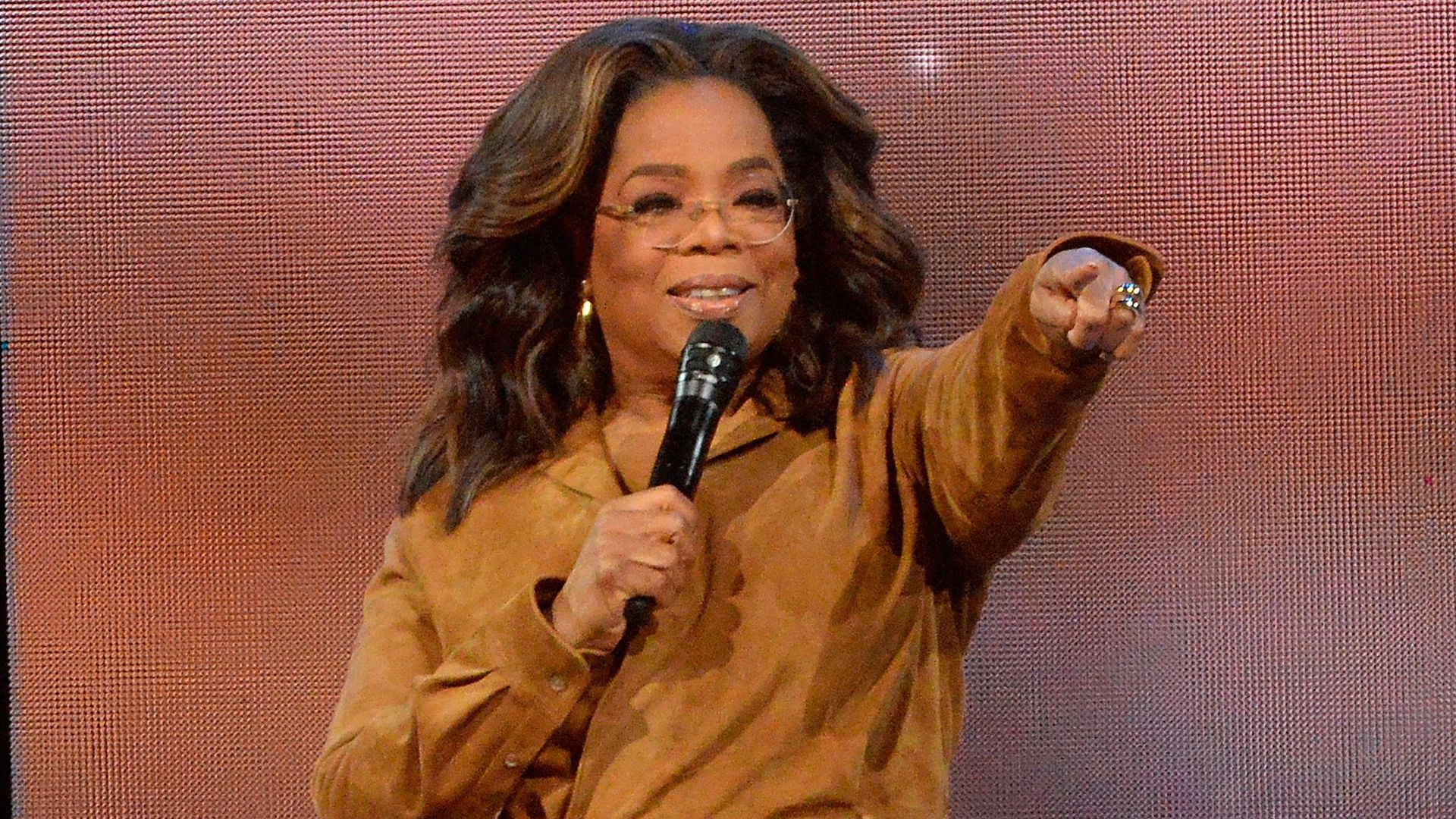 """Mandatory Credit: Photo by Brad Barket/Invision/AP/Shutterstock (10652740a)Oprah Winfrey during """"Oprah's 2020 Vision: Your Life in Focus"""" tour in New York."""