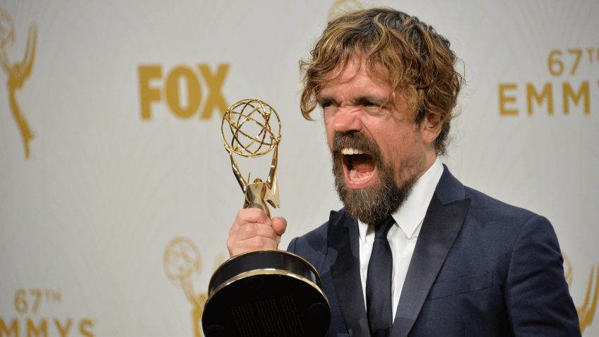 "LOS ANGELES, CA - SEPTEMBER 20, 2015: ""Game of Thrones"" star Peter Dinklage at the 67th Primetime Emmy Awards at the Microsoft Theatre LA Live."