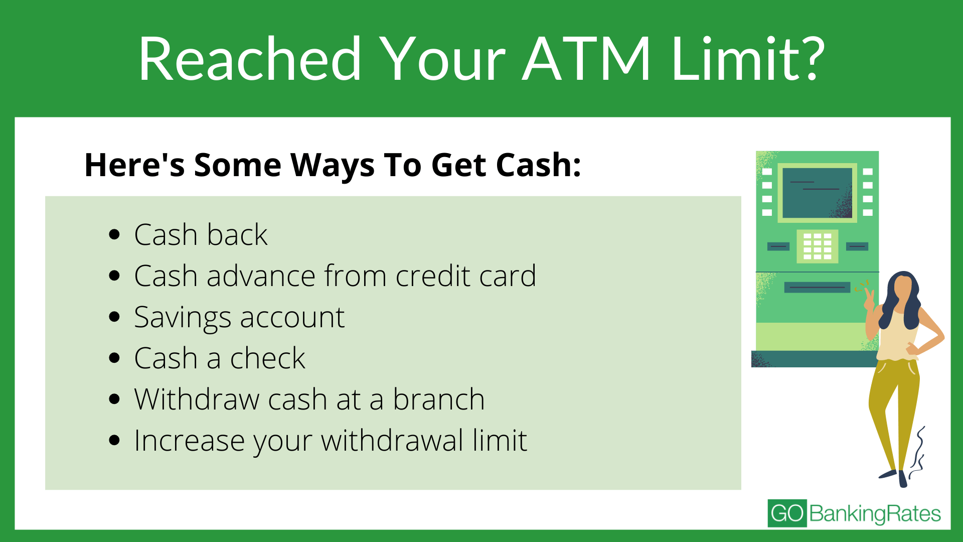 guide on what to do if you've reached your atm limits
