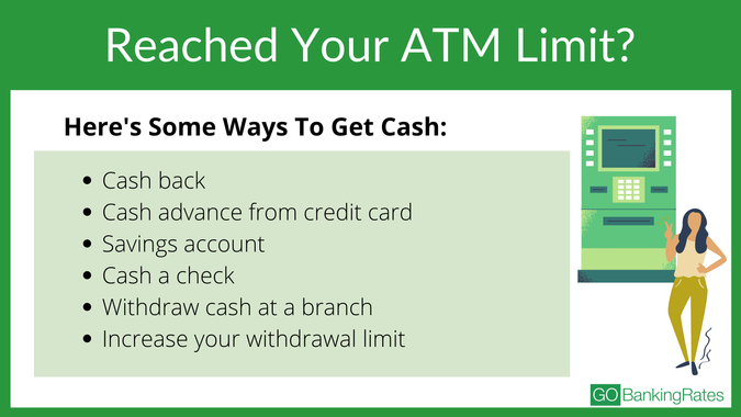 How To Get Cash When You Reach Your ATM Limit