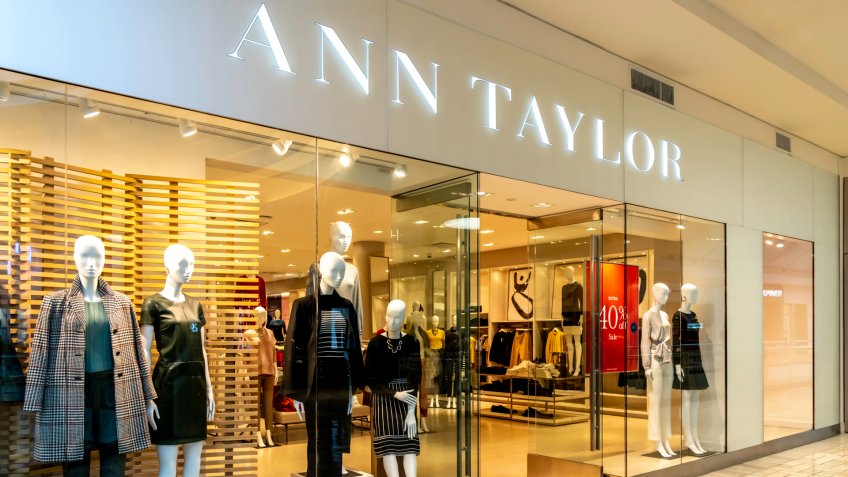 The Ann Taylor storefront in Tysons Corner Center, Virginia, USA