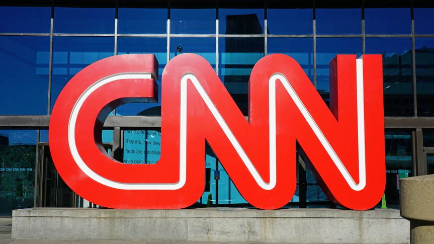 ATLANTA, GA -4 JAN 2019- View of the CNN logo at the CNN Center, the world headquarters of the CNN news network located in downtown Atlanta, Georgia.