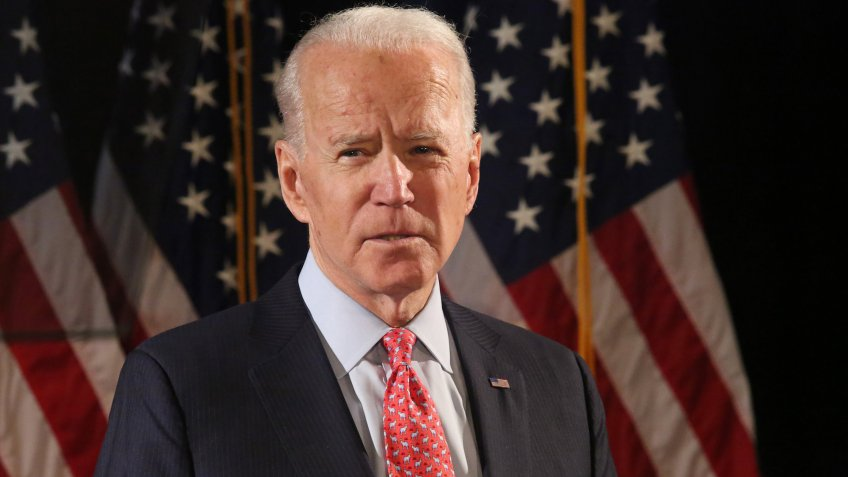 Mandatory Credit: Photo by MediaPunch/Shutterstock (10581528a)Joe BidenJoe Biden, US Presidential Election Campaiging, Wilmington, USA - 12 Mar 2020.
