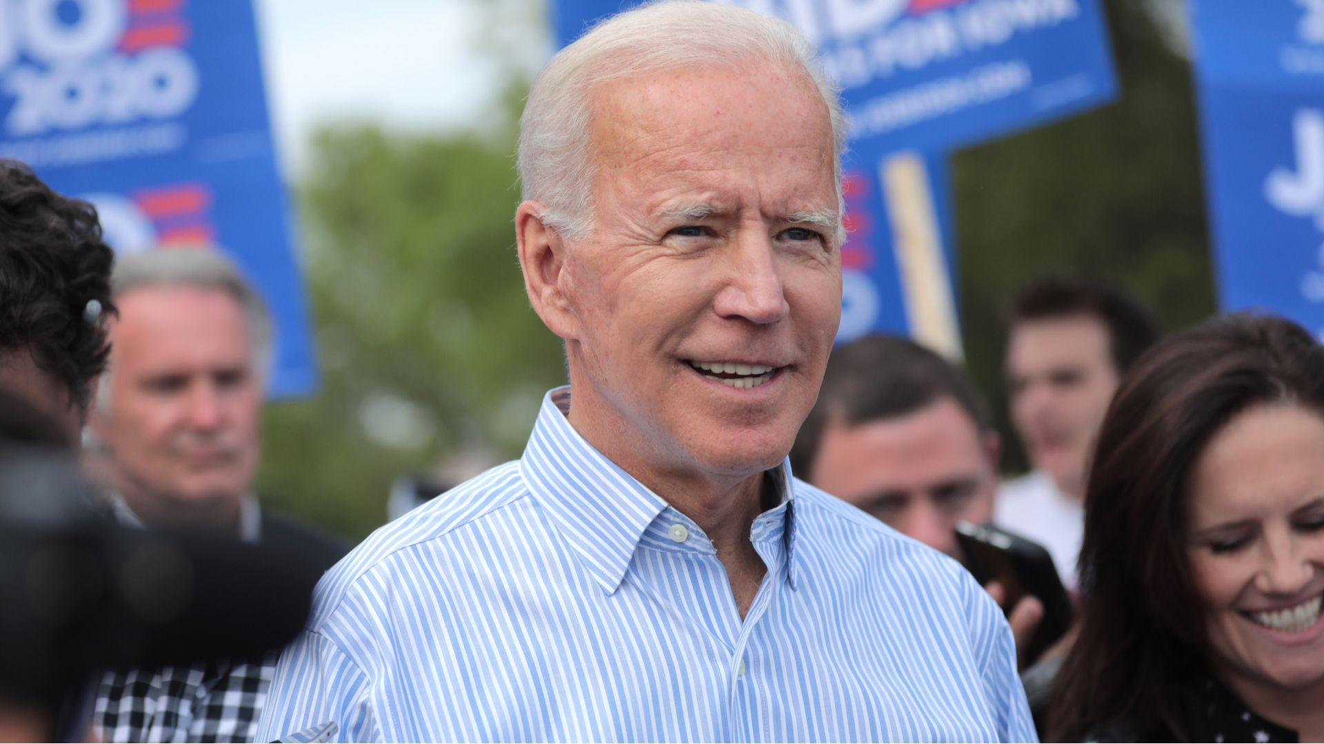 Peoria,AZ - May 25 2020: Former Vice President of the United States Joe Biden walking with supporters at a pre-Wing Ding march from Molly McGowan Park in Clear Lake, Iowa.