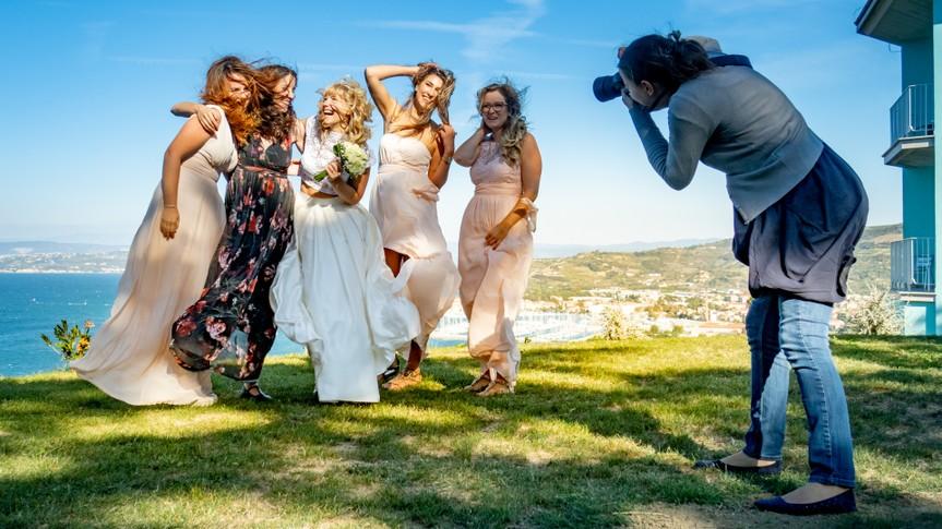 Female Wedding Photographer at Work.