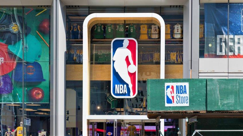 New York, United States, August 18, 2018:NBA store front in New York.