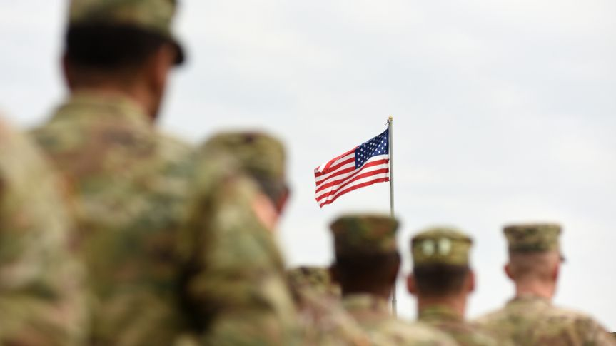 soldiers american flag