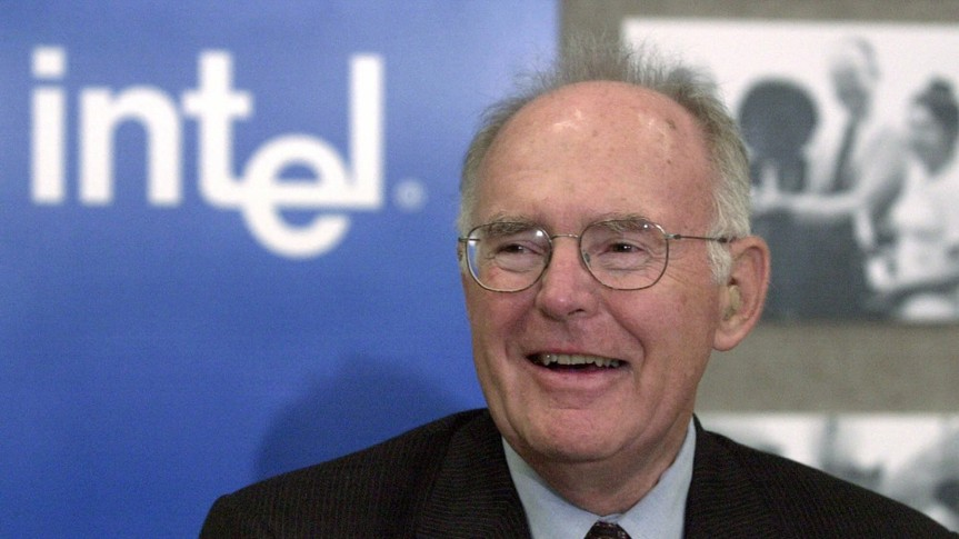Mandatory Credit: Photo by Ben Margot/AP/Shutterstock (6469878b)MOORE Gordon Moore, the legendary Intel Corp.