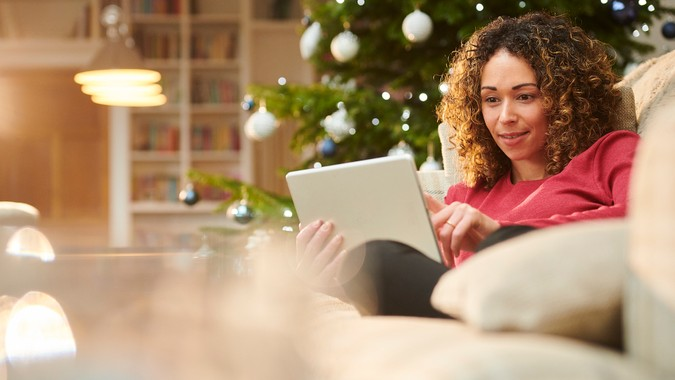 Christmas online banking