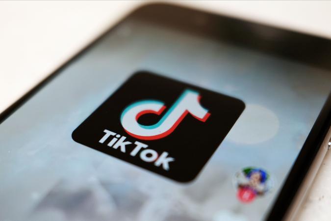 Mandatory Credit: Photo by Kiichiro Sato/AP/Shutterstock (10976999a)As logo of a smartphone app TikTok on a user post on a smartphone screen in Tokyo.