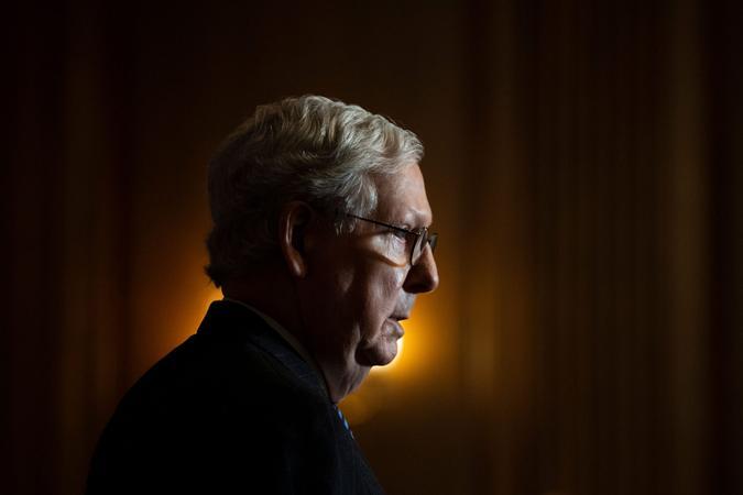 Mandatory Credit: Photo by Caroline Brehman/AP/Shutterstock (11553239f)Senate Majority Leader Mitch McConnell of Ky.