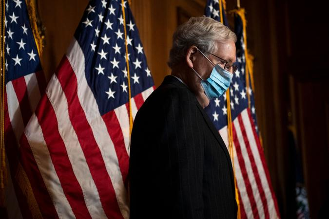 Mandatory Credit: Photo by Shutterstock (11553986i)United States Senate Majority Leader Mitch McConnell (Republican of Kentucky), conducts a news conference in the U.