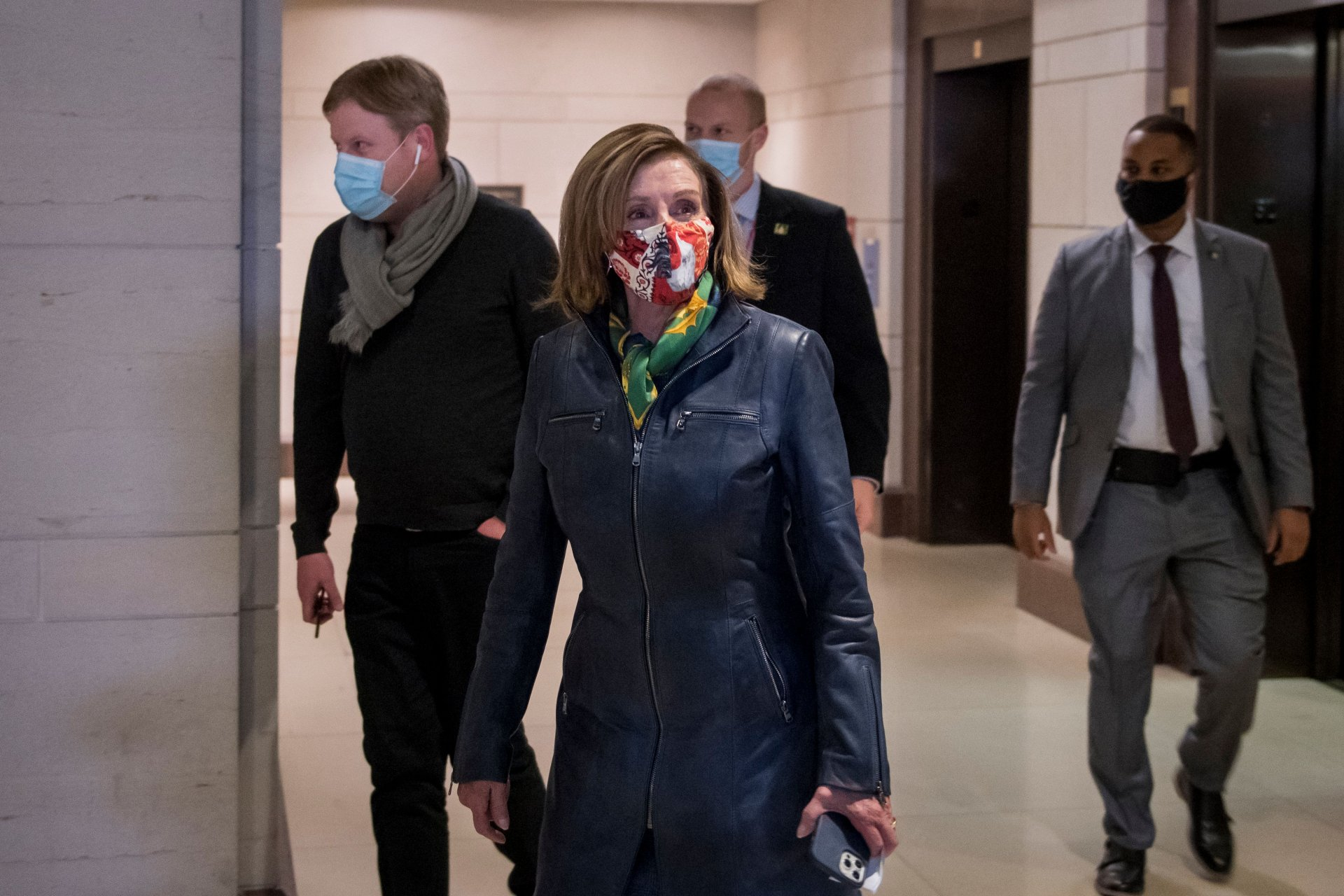 Mandatory Credit: Photo by Shutterstock (11598418c)Speaker of the United States House of Representatives Nancy Pelosi (Democrat of California) makes her way past reporters at the US Capitol in Washington, DC,.