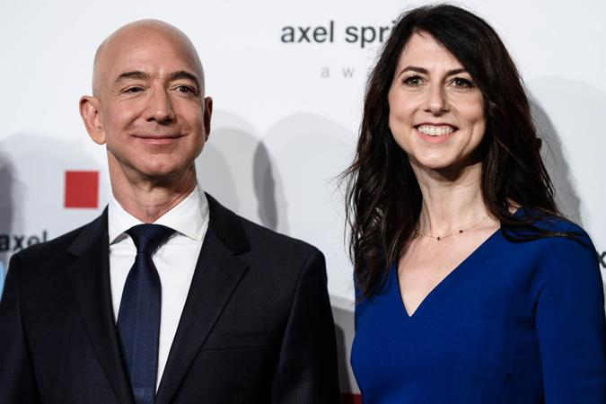 Mandatory Credit: Photo by Clemens Bilan/EPA-EFE/Shutterstock (9641193h)Amazon CEO Jeff Bezos (L) and and his wife MacKenzie attend the Axel Springer Award 2018, in Berlin, Germany, 24 April 2018.