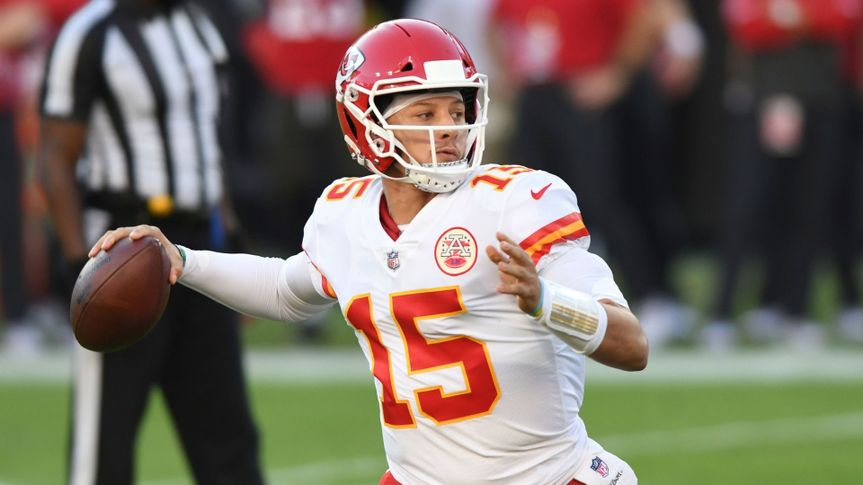 Mandatory Credit: Photo by Jason Behnken/AP/Shutterstock (11086247cg)Kansas City Chiefs quarterback Patrick Mahomes (15) during the first half of an NFL football game against the Tampa Bay Buccaneers, in Tampa, FlaChiefs Buccaneers Football, Tampa, United States - 29 Nov 2020.