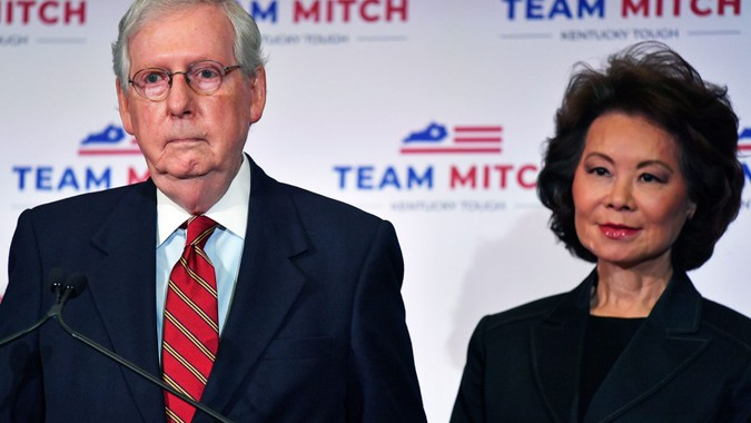 Mandatory Credit: Photo by Timothy D Easley/AP/Shutterstock (10996243f)Senate Majority Leader Mitch McConnell, R-Ky.