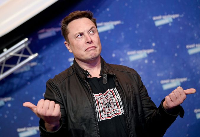 Mandatory Credit: Photo by BRITTA PEDERSEN/POOL/EPA-EFE/Shutterstock (11088639f)SpaceX owner and Tesla CEO Elon Musk poses after arriving on the red carpet for the Axel Springer award, in Berlin, Germany, 01 December 2020.