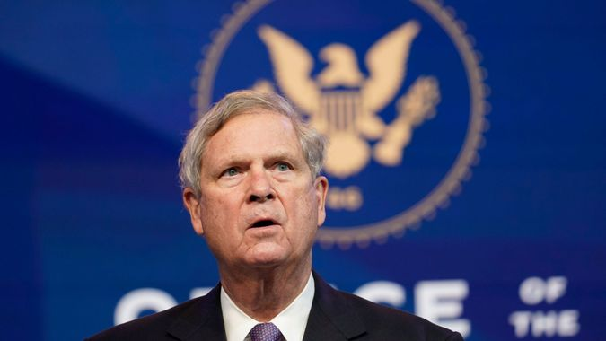 Mandatory Credit: Photo by Susan Walsh/AP/Shutterstock (11538861j)Former Agriculture Secretary Tom Vilsack, who the Biden administration chose to reprise that role, speaks during an event at The Queen theater in Wilmington, DelBiden, Wilmington, United States - 11 Dec 2020.