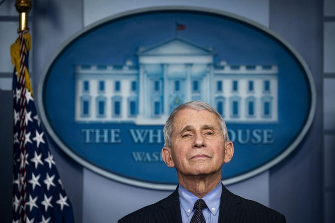 Mandatory Credit: Photo by Al Drago/UPI/Shutterstock (11721177g)Anthony Fauci, director of the National Institute of Allergy and Infectious Diseases, speaks during a news conference in the James S.