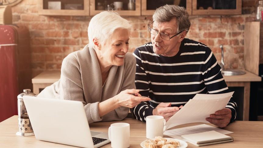 Retirement Financial Planning Concept.