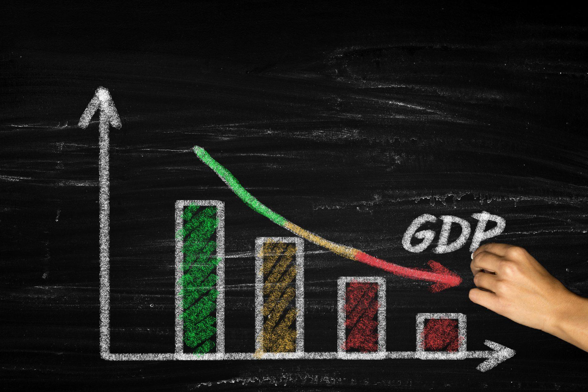 Falling GDP,GDP decline.