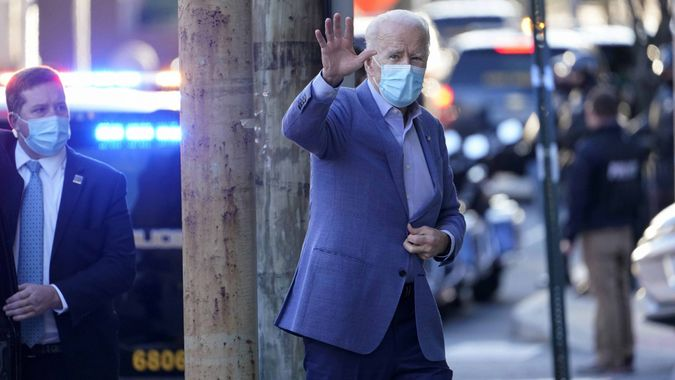 Mandatory Credit: Photo by Susan Walsh/AP/Shutterstock (11702224a)President-elect Joe Biden arrives at The Queen Theater in Wilmington, DelBiden, Wilmington, United States - 10 Jan 2021.