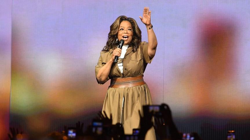 Mandatory Credit: Photo by Larry Marano/Shutterstock (10517946l)Oprah Winfrey speaks during 'Oprah's 2020 Vision: Your Life in Focus' tourOprah's 2020 Vision: Your Life in Focus, BB&T Center, Florida, USA - 04 Jan 2020.