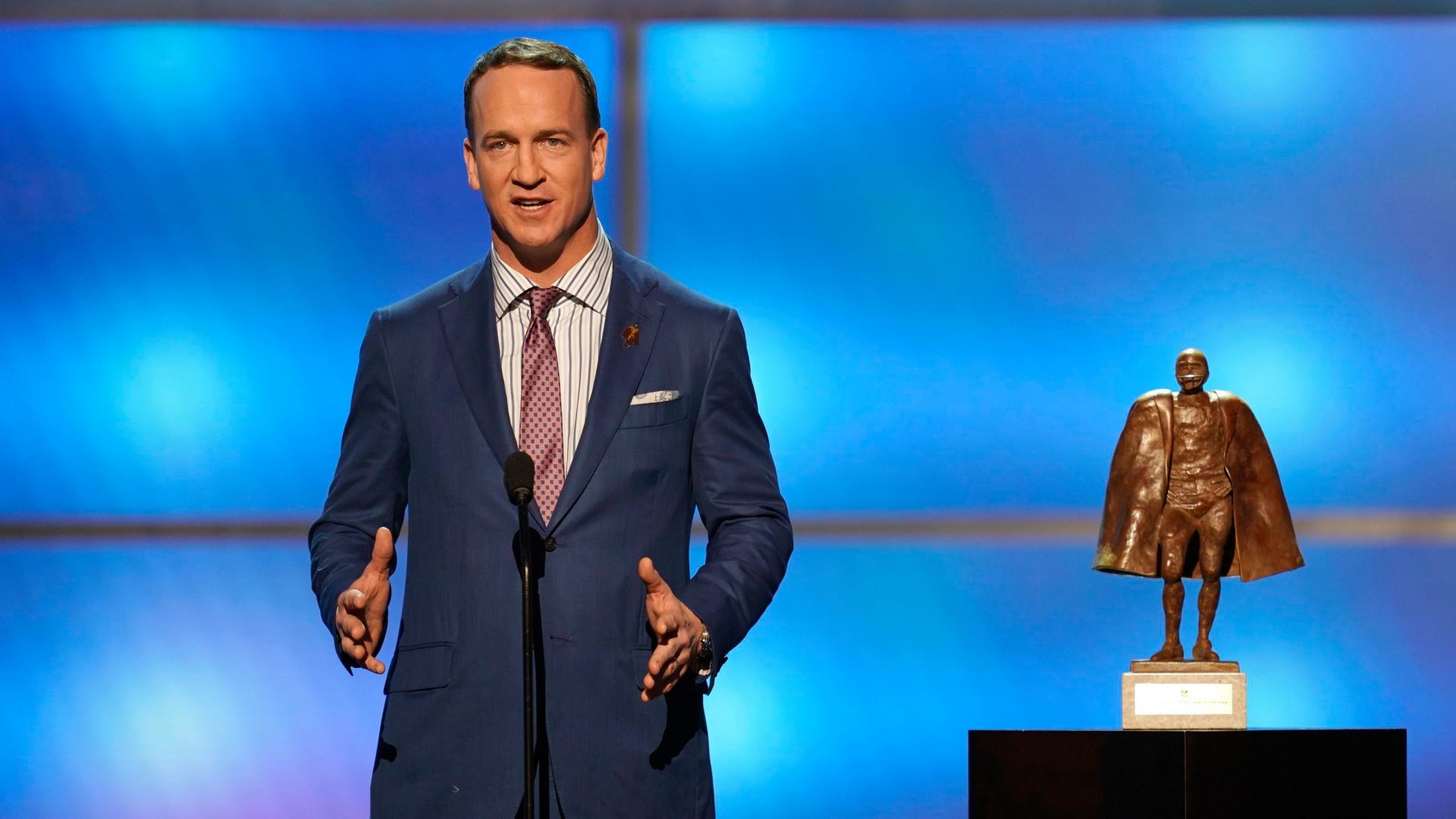 Mandatory Credit: Photo by Paul Abell/Invision/AP/Shutterstock (10081569lc)Former NFL player Peyton Manning presents the Walter Peyton NFL man of the year award at the 8th Annual NFL Honors at The Fox Theatre, in Atlanta8th Annual NFL Honors, Atlanta, USA - 02 Feb 2019.